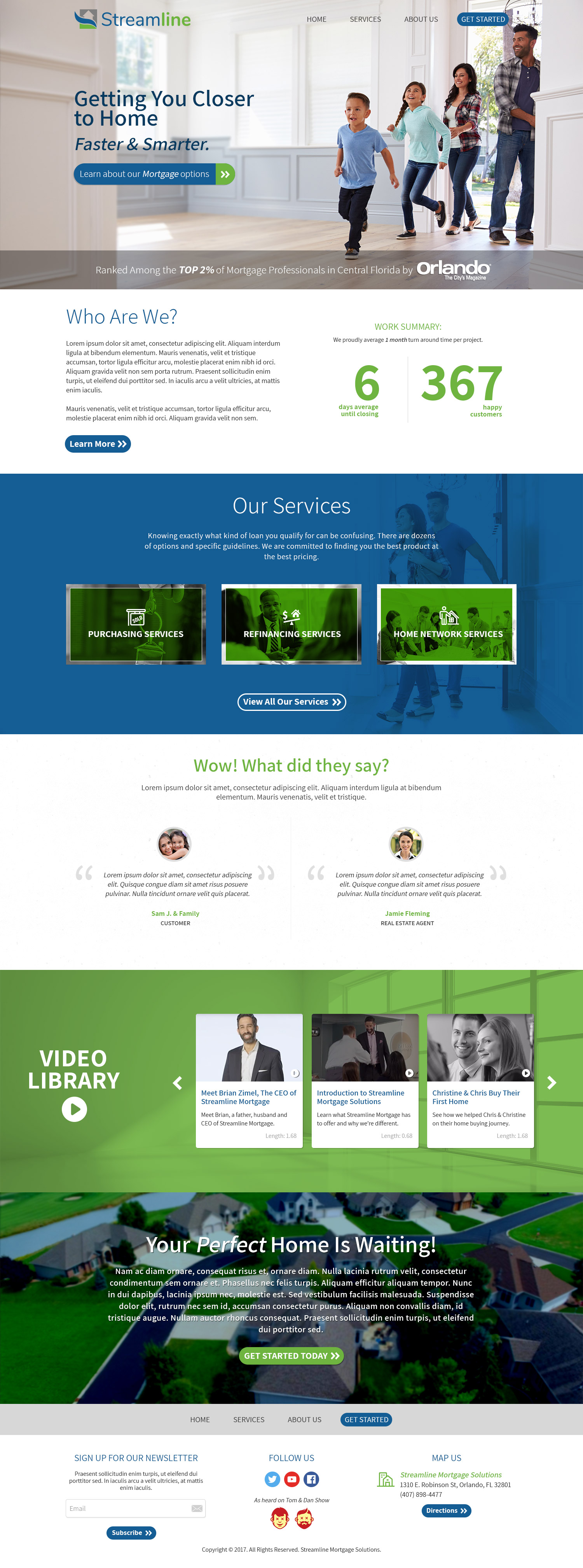 Streamline Mortgage Solutions - Homepage v2