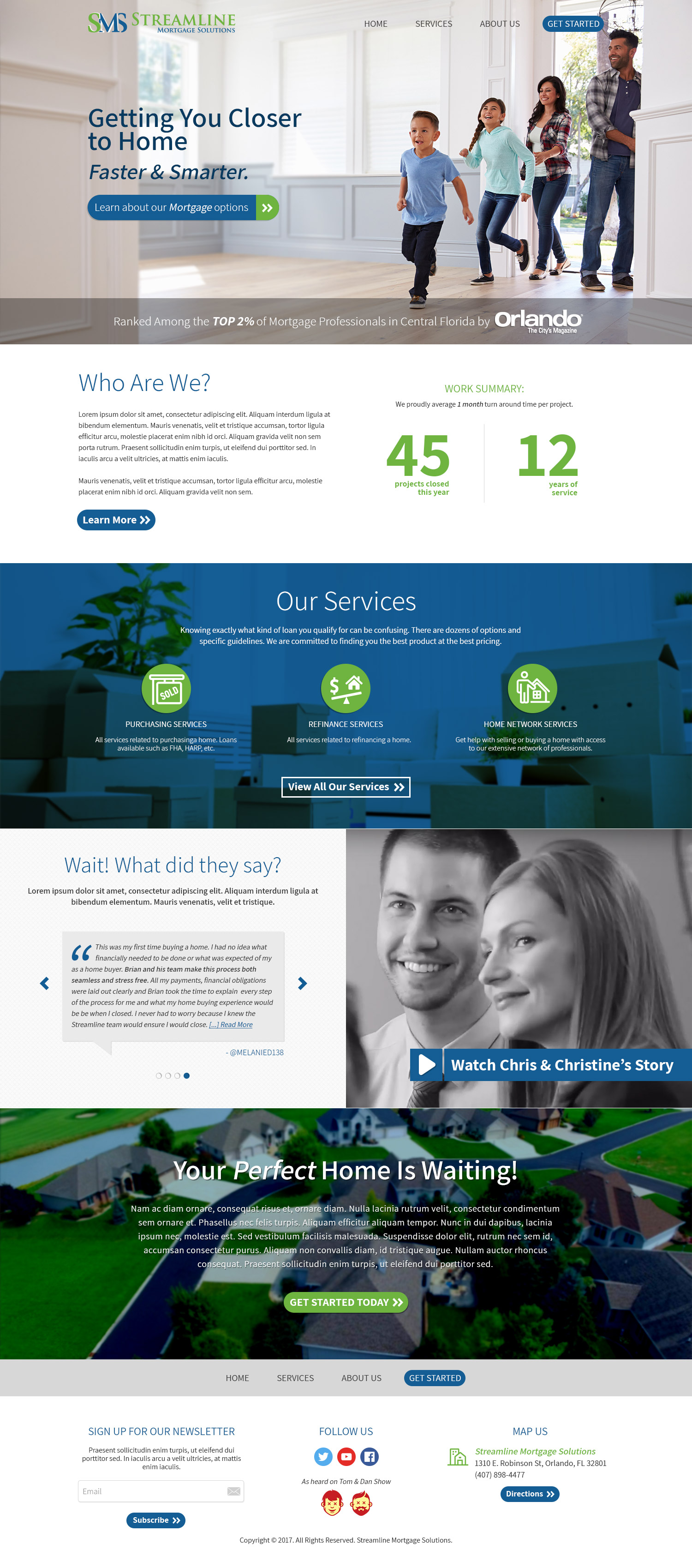 Streamline Mortgage Solutions - Homepage v1